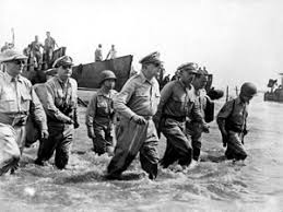 20. American Forces Land On Red Beach In Palo, Leyte